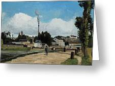 Banks Of The Oise At Pontoise Greeting Card
