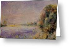 Banks Of The River 1876 Greeting Card