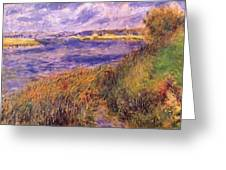 Banks Of The Seine At Champrosay Greeting Card