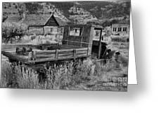 Bannack Extended Parking Black And White Greeting Card
