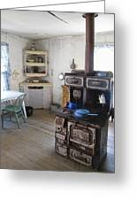 Bannack Ghost Town  Kitchen And Stove - Montana Territory Greeting Card
