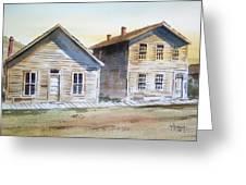 Bannack Ghost Town Montana Greeting Card