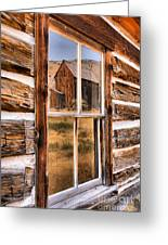 Bannack Reflection In The Past Greeting Card