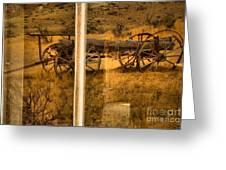 Bannack Wagon Reflections Greeting Card