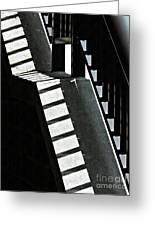 Bannister And Shadows Greeting Card