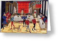 Banquet, 15th Century Greeting Card