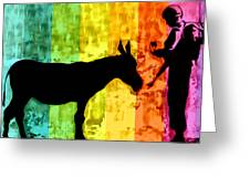 Bansky In Colors Greeting Card