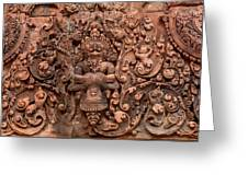 Banteay Srei Bas Relief Carvings - Cambodia Greeting Card