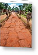 Banteay Srei Red Sandstone Road - Cambodia Greeting Card