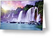 Banyue Waterfall Greeting Card