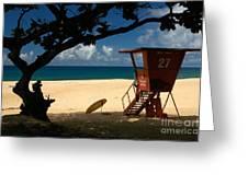 Banzai Beach Greeting Card