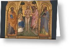 Baptism Altarpiece Greeting Card