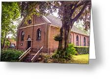 Baptist Church In Giethoorn. Netherlands Greeting Card