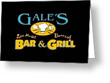 Bar And Grill Sign Greeting Card