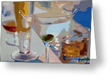 Bar Drinks Greeting Card by David Lloyd Glover