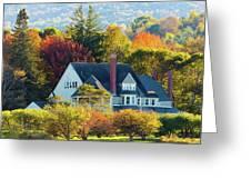 Bar Harbor Autumn House Greeting Card