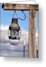 Bar Harbor Lantern Greeting Card