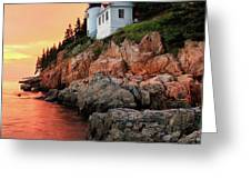 Bar Harbor Light House Greeting Card