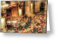 Bar Scene Greeting Card