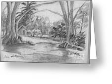 Bara De Navidad Farmhouse Greeting Card