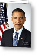 Barack Obama (1961- ) Greeting Card by Granger