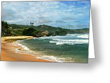 Barbados Beach Greeting Card