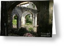Barbados Ruins Greeting Card