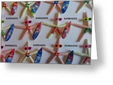 Barbados Starfish  Surfers Greeting Card