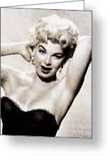 Barbara Nichols, Vintage Actress By John Springfield Greeting Card