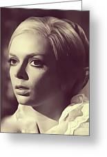 Barbara Steele, Vintage Actress Greeting Card
