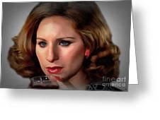 Barbara Streisand Collection - 1 Greeting Card