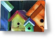 Barbara's Birdhouses Greeting Card