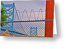 Barbed Wire Bridge Greeting Card