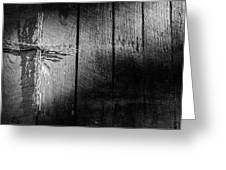 Barbed Wire Cross Greeting Card