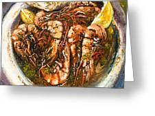 Barbequed Shrimp Greeting Card by Dianne Parks