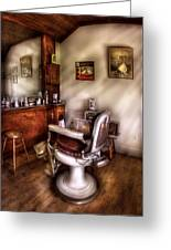 Barber - In The Barber Shop  Greeting Card