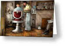 Barber - Our Family Barber 1935 Greeting Card