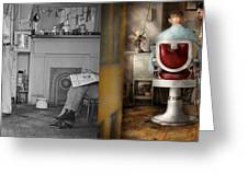 Barber - Our Family Barber 1935 - Side By Side Greeting Card