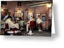 Barber - Senators-only Barbershop 1937 Greeting Card