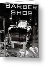 Barber Shop Window Greeting Card