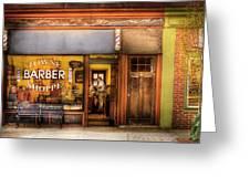 Barber - Towne Barber Shop Greeting Card