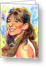 Barbra Streisand Young Portrait Greeting Card
