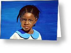 Barbuda School Girl Greeting Card