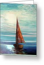 Barca Al Chiar Di Luna Greeting Card