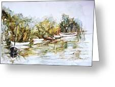 Barcas En La Albufera Greeting Card