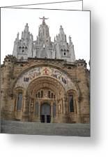 Barcelona - Temple Expiatori Del Sagrat Cor Greeting Card