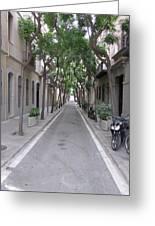 Barcelona Barrio Greeting Card