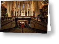 Barcelona Cathedral High Altar And St Eulalia Crypt Greeting Card