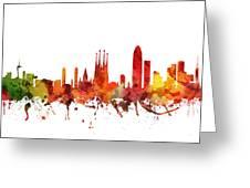 Barcelona Cityscape 04 Greeting Card