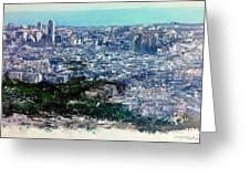 Barcelona Desde El Tibidabo Greeting Card